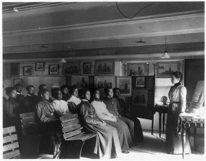 Geography Class at Hampton Institute, 1899